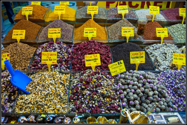At the Spicy Market in Istanbul, Turkey the teas are called Çay and are sold bulk together with the spices